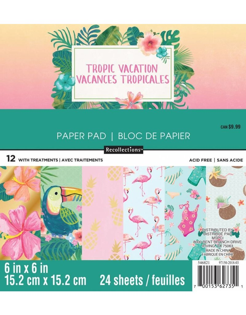 Craft Smith Craft Smith Tropical Vacation Paper Pad 6x6
