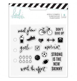 Heide Swapp Memory planner clear stamps  exercise