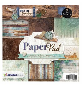 Studiolight Paper Pad  6x6 Denim Saturdays 104