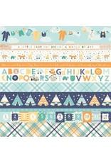Echo Park Hello Baby Boy Cardstock 12x12  Border Strips