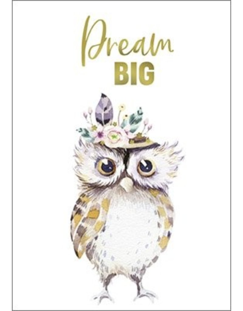 Postkarte mit Goldfolie Dream BIG