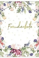 Postkarte mit Goldfolie Freudenbote