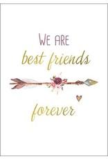 Postkarte mit Goldfolie best friends