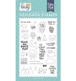 Echo Park Hello Little Baby Boy New Arrival Clearstamp Set