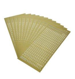 Stickerbogen, Zahlen, 10 x 23 cm, gold