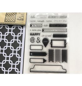 Stempel & Stencil Set Interlock Squares