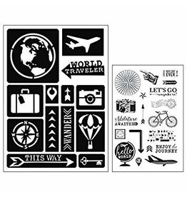 Stempel & Stencil Set Travel
