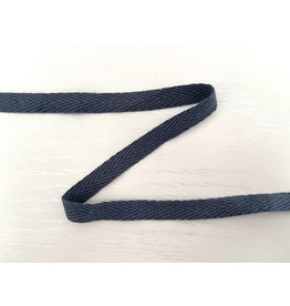 3m feines, schmales Köperband 10mm Graublau