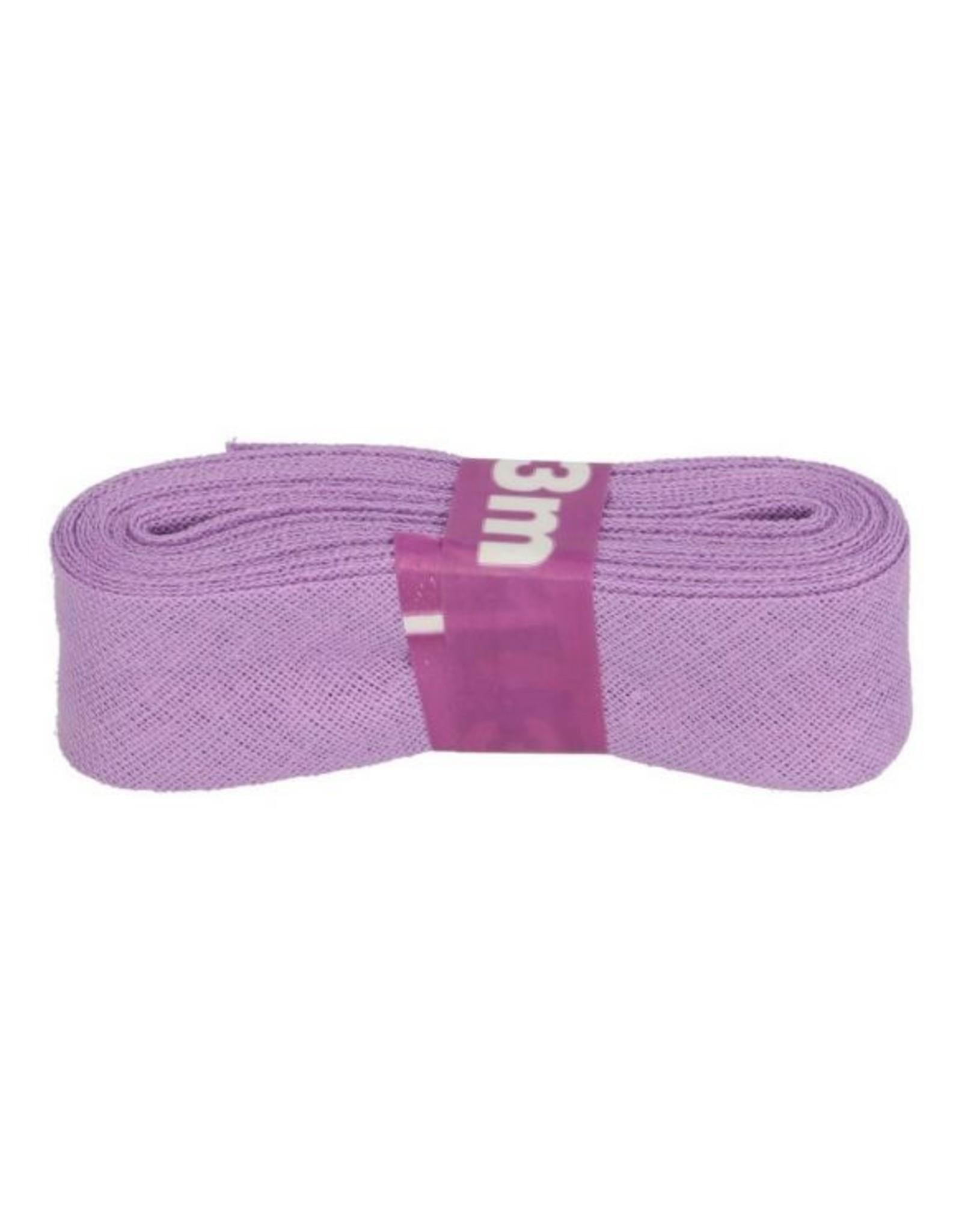 3m Schrägband aus Baumwolle 12mm Flieder