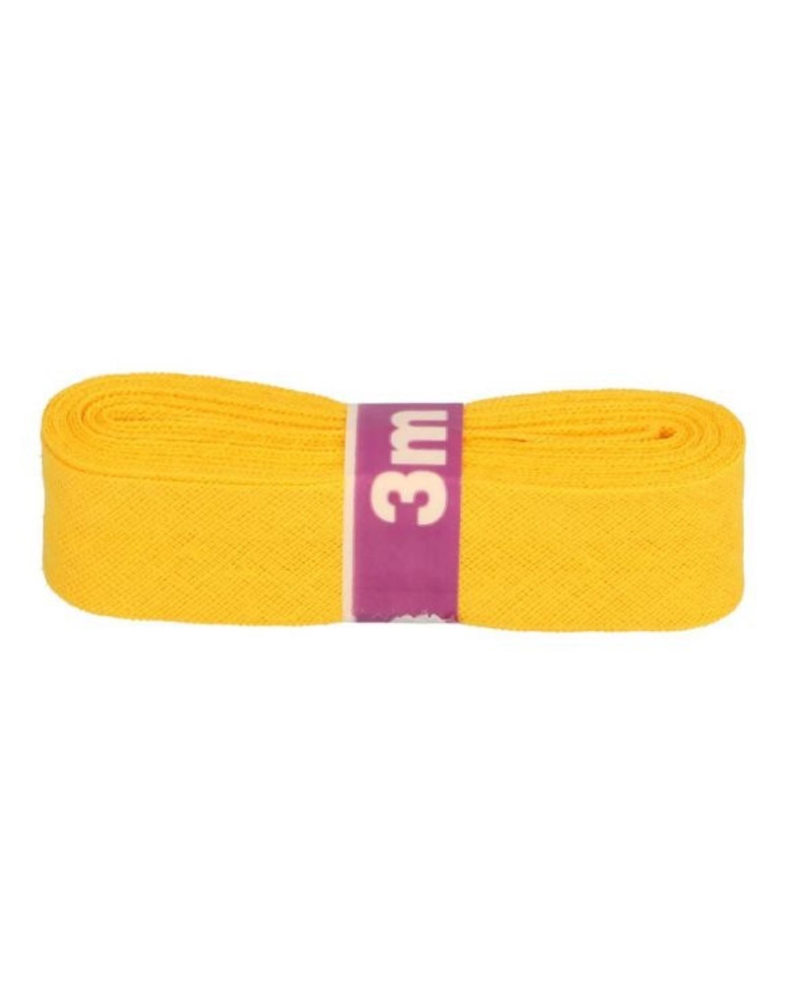 3m Schrägband aus Baumwolle 12mm Gelborange