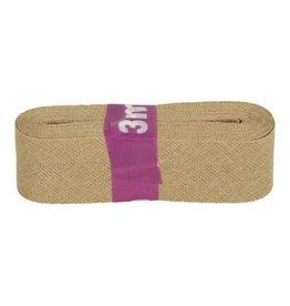 3m Schrägband aus Baumwolle 12mm Beige