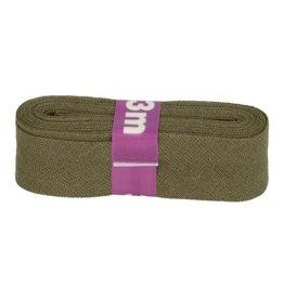 3m Schrägband aus Baumwolle 12mm Schlamm
