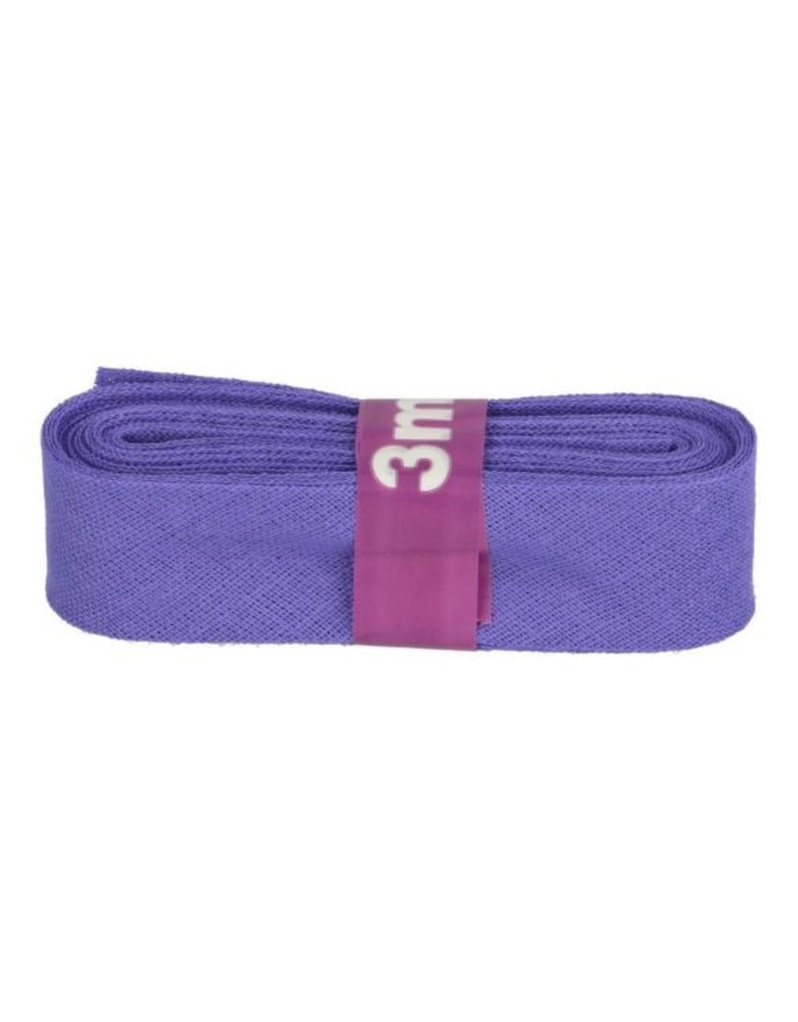 3m Schrägband aus Baumwolle 12mm Lila