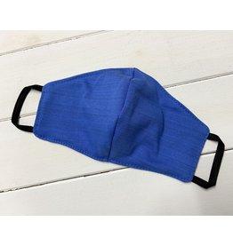 Mund und Nasen-Maske Blau aus Baumwolljersey