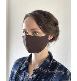 Mund und Nasen-Maske Braun aus Baumwolljersey