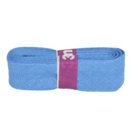 3m Schrägband aus Baumwolle 12mm Mittelblau