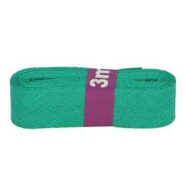 3m Schrägband aus Baumwolle 12mm Grün