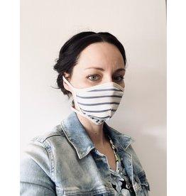 Gesichtsmaske aus Baumwolljersey  Gestreift