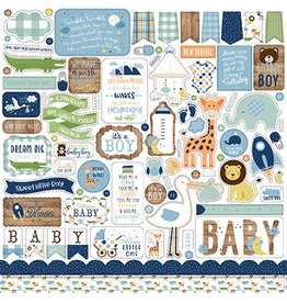 Echo Park Baby Boy 12x12 Inch Sticker