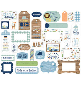 Echo Park Baby Boy Frames & Tags Ephemera