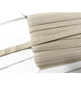 2m elastisches Einfassband  Beige 11mm