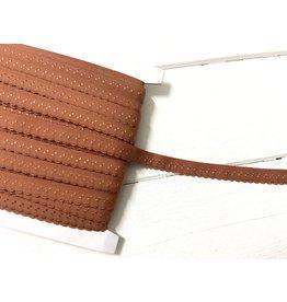 2m elastisches Einfassband  Rostbraun 11mm