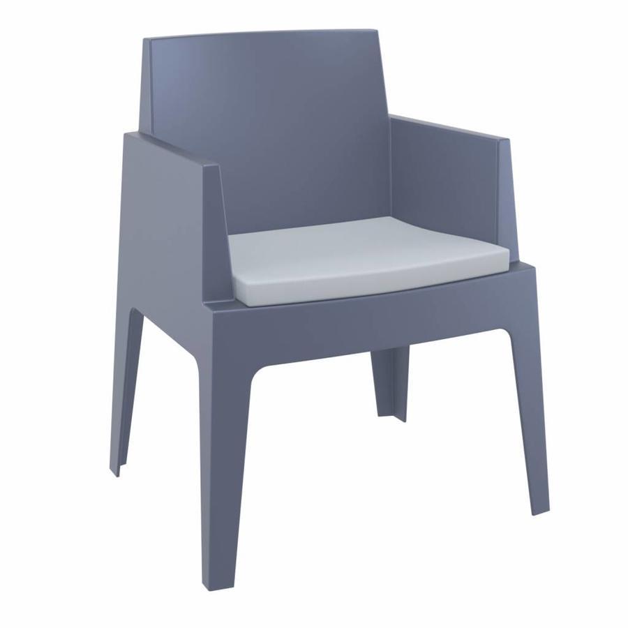 Box stoel Kussen - Lichtgrijs - Siesta-2