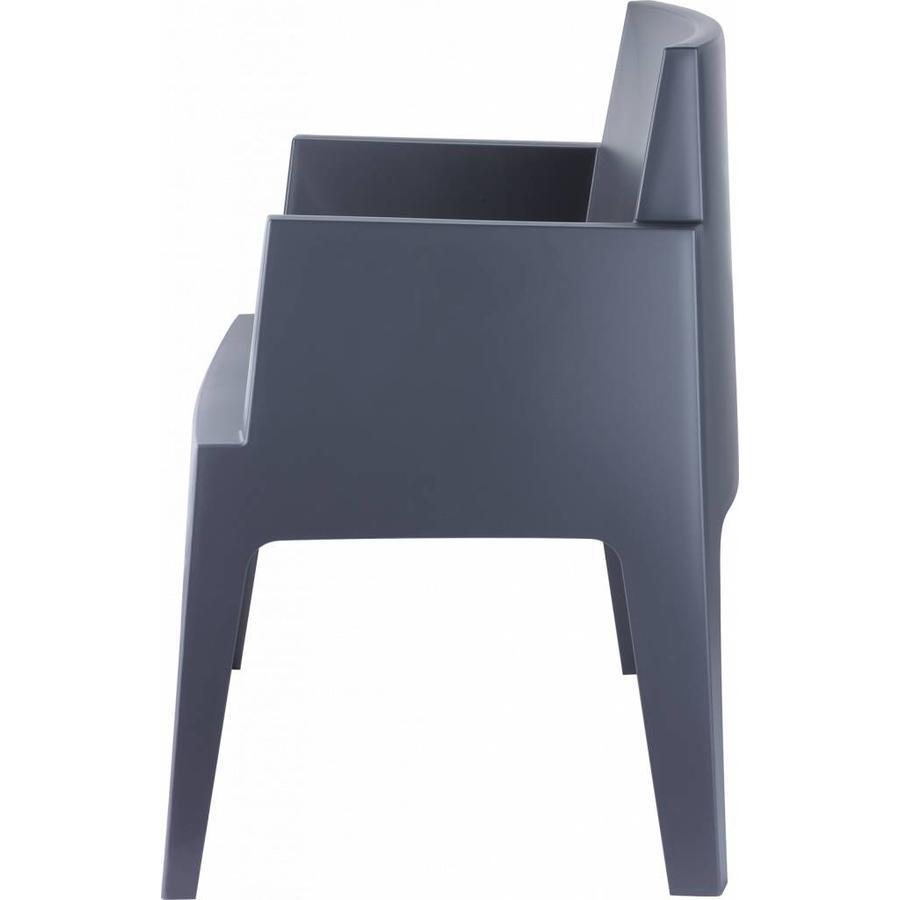 Tuinstoel - Box - Donkergrijs - Siesta-6