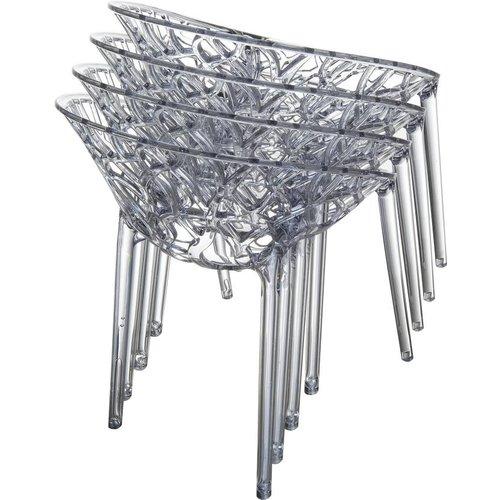 Siesta Exclusive Tuinstoel - Crystal - Grijs Transparant - Siesta Exclusive