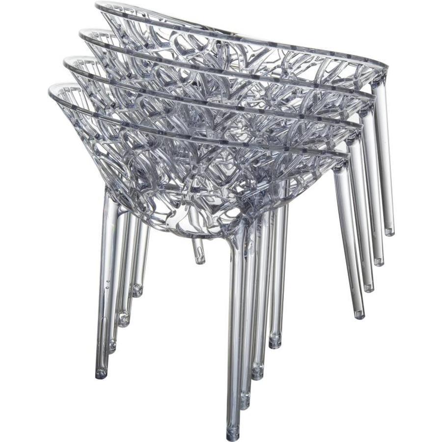 Tuinstoel - Crystal - Grijs Transparant - Siesta Exclusive-9