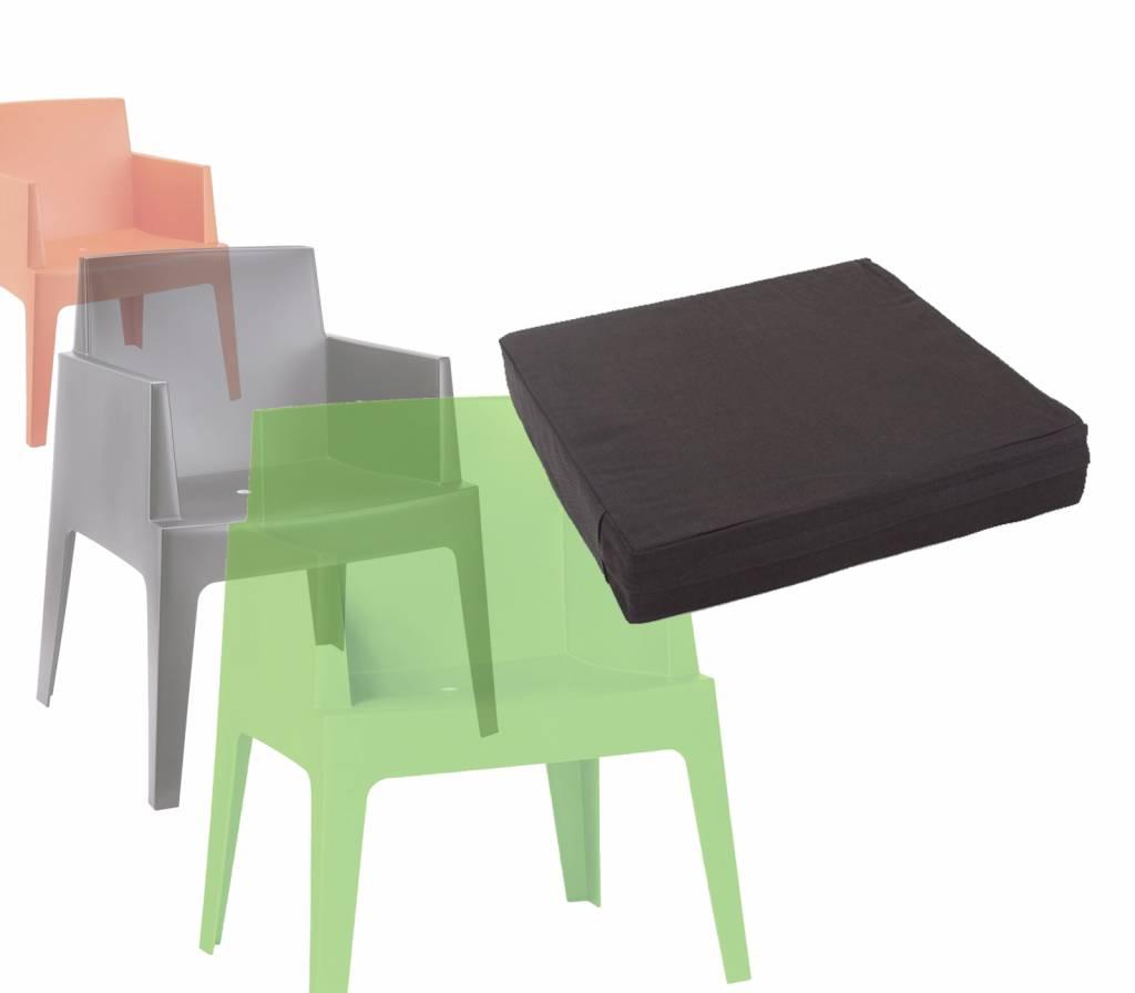 Fonkelnieuw Boxstoel Kussen - Zwart - Siesta - Garden Interiors QA-77
