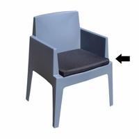 thumb-Boxstoel Kussen - Zwart - Siesta-1