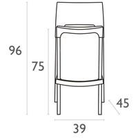 thumb-Stapelbare Barkruk - 75 cm - Gio - Wit - Siesta-9
