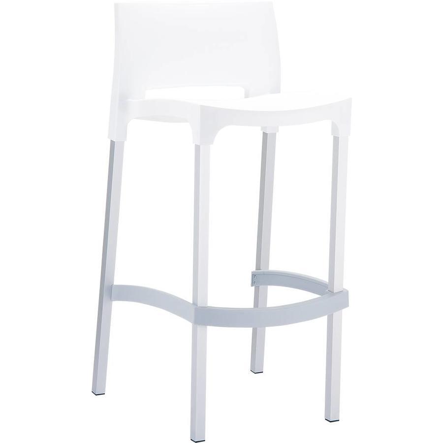 Moderne Witte Barstoelen.Siesta Stapelbare Barkruk 75 Cm Gio Wit Siesta