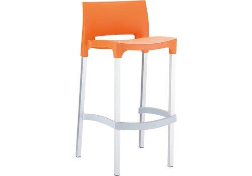 Stapelbare Barkruk - 75 cm - Gio - Oranje - Siesta