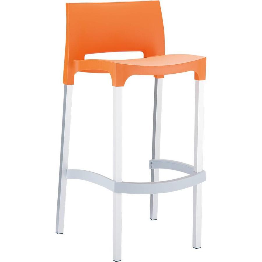 Stapelbare Barkruk - 75 cm - Gio - Oranje - Siesta-1