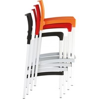 thumb-Stapelbare Barkruk - 75 cm - Gio - Oranje - Siesta-2