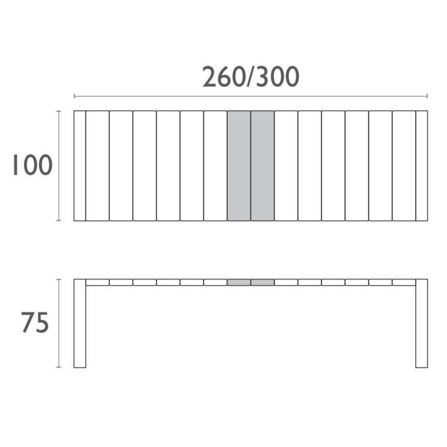 Tuintafel - Vegas XL - Wit - Uitschuifbaar 260/300 cm-4