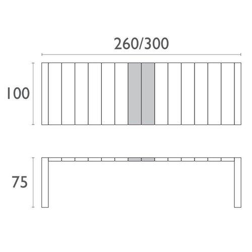 Siesta  Tuintafel - Vegas XL - Donkergrijs - Uitschuifbaar 260/300 cm