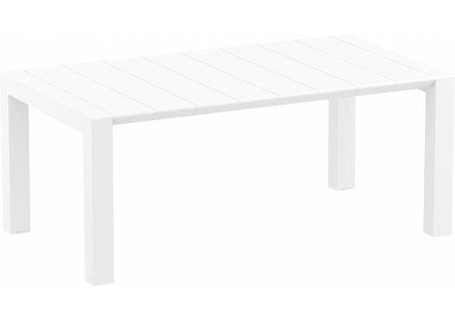 Tuintafel - Vegas Medium - Wit - Uitschuifbaar 180/220 cm