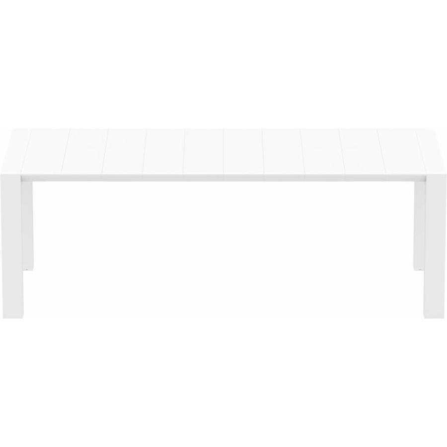 Tuintafel - Vegas Medium - Wit - Uitschuifbaar 180/220 cm-3