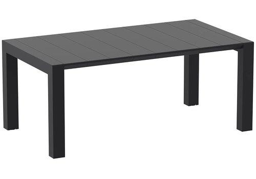 Tuintafel - Vegas Medium - Zwart - Uitschuifbaar 180/220 cm