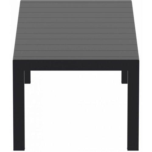 Siesta  Tuintafel - Vegas Medium - Zwart - Uitschuifbaar 180/220 cm