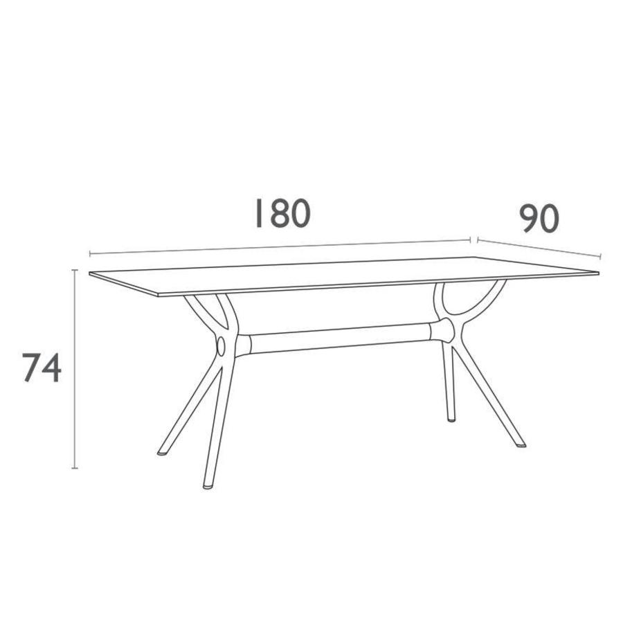 Tuintafel - Air - Wit - 180x90x74 cm - Siesta-7