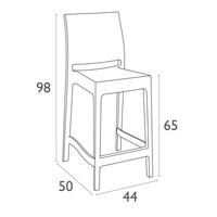 thumb-Counter Barkruk - 65 cm - Maya - Wit - Siesta-8