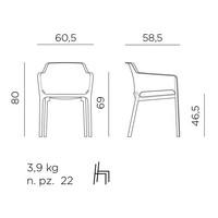 thumb-Dining Tuinstoel - NET - Senape - Mosterd Geel - Nardi-10