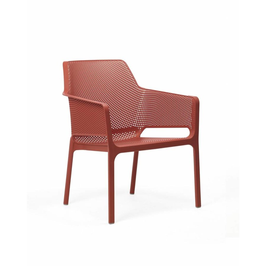 Lounge Tuinstoel - NET Relax - Corallo - Rood - Nardi-1