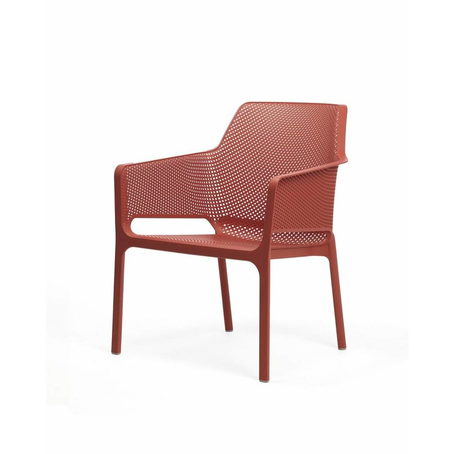 Lounge Tuinstoel - NET Relax - Corallo - Rood - Nardi-2