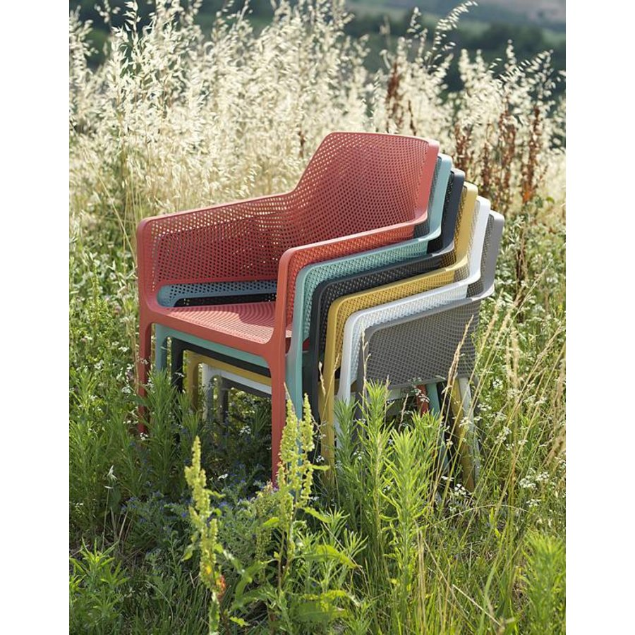 Lounge Tuinstoel - NET Relax - Corallo - Rood - Nardi-3