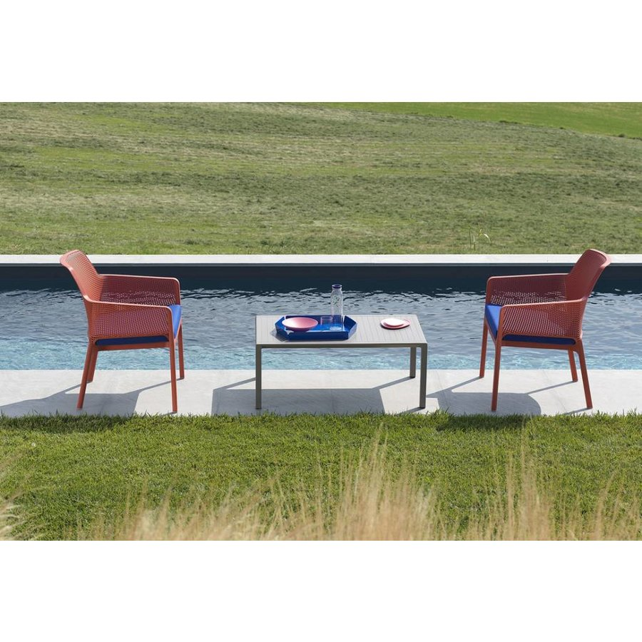 Lounge Tuinstoel - NET Relax - Corallo - Rood - Nardi-4